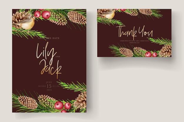 Красивые рождественские цветочные и листья фон