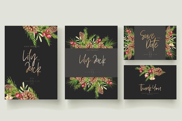 美しいクリスマスの花と葉の背景