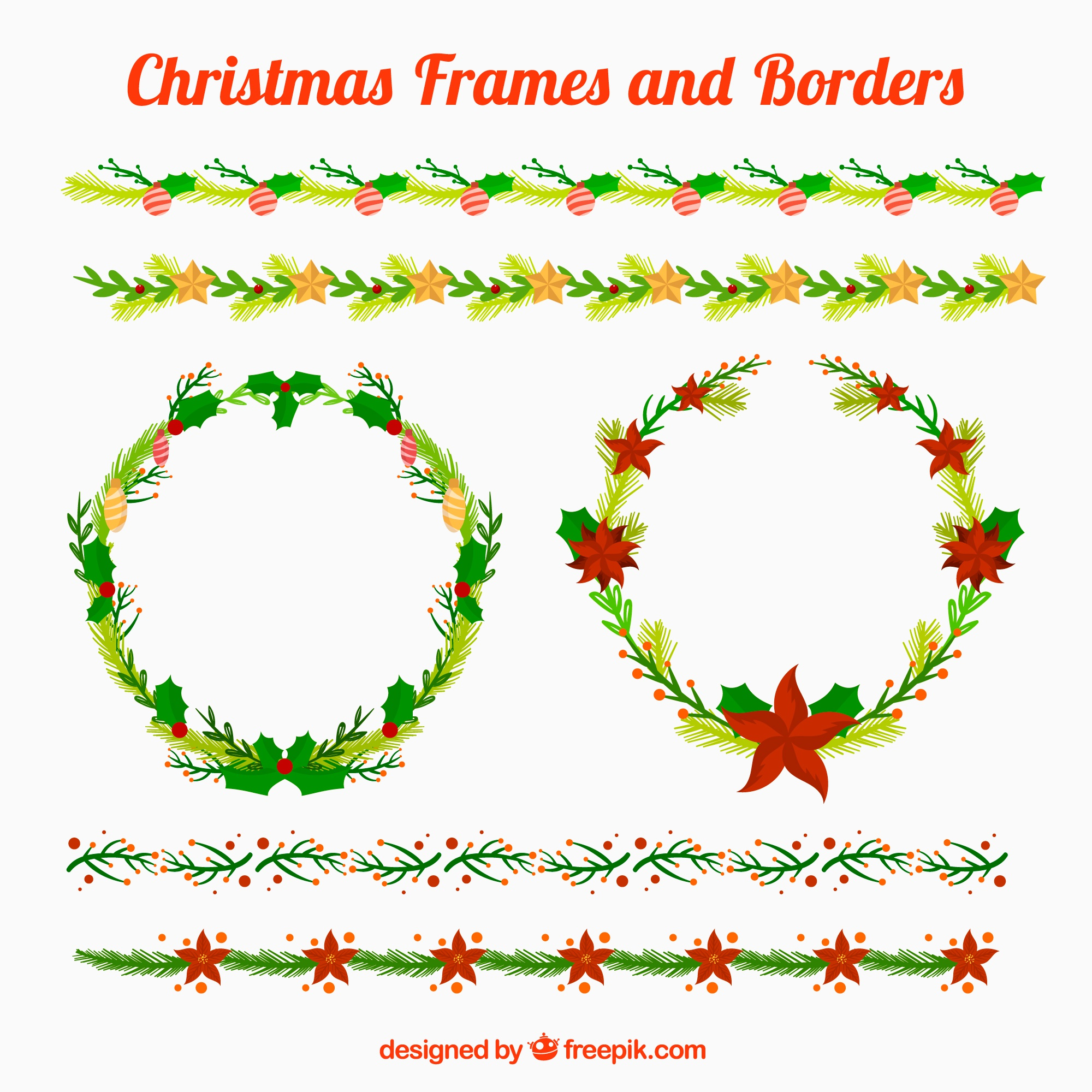 Beautiful christmas frames and borders