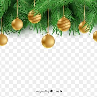 투명 배경에서 아름 다운 크리스마스