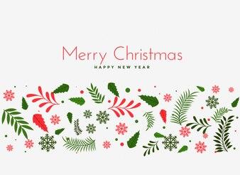 Beautiful christmas leaves decoration background