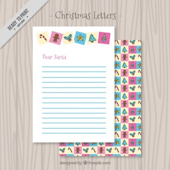 Beautiful christmas letter decorative elements