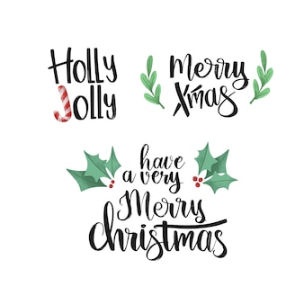 Beautiful christmas lettering