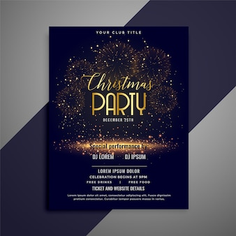 Beautiful christmas party celebration flyer design