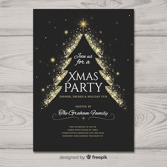 Beautiful Christmas Party Poster Template