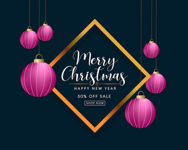 Beautiful christmas sale background