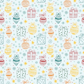 Beautiful christmas seamless pattern