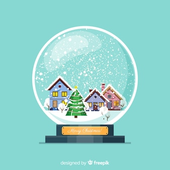Beautiful christmas snowball globe