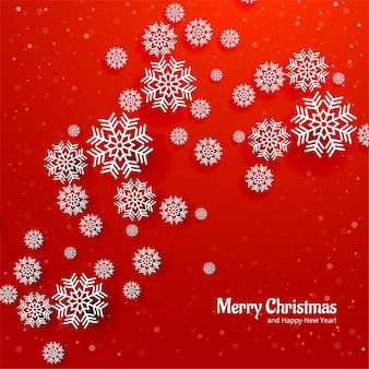 Beautiful christmas snowflack card red background