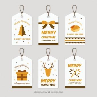 Beautiful christmas tags pack