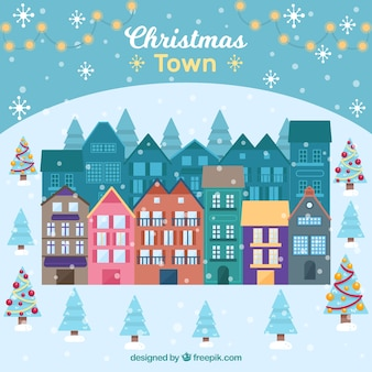 Beautiful christmas town