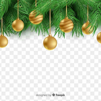 Beautiful christmas in transparent background
