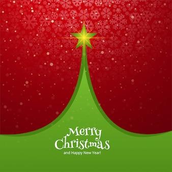 Beautiful christmas tree card celebration holiday background