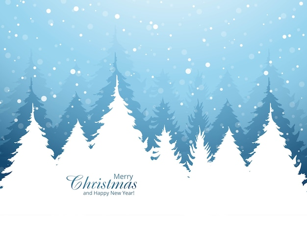 Beautiful christmas tree card holiday background