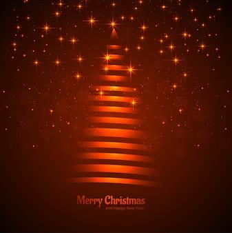 美しいクリスマスツリーgrittengカード