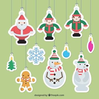 Beautiful christmas tree ornaments pack