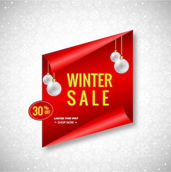 Beautiful christmas winter sale banner background