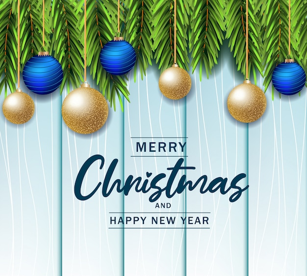 Beautiful christmas in wooden background