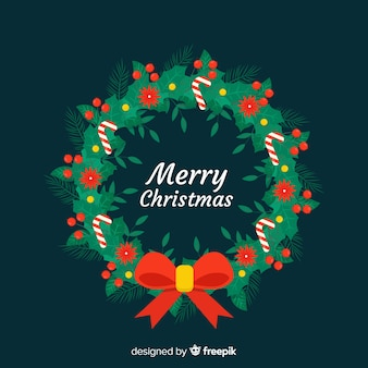 Beautiful christmas wreath background