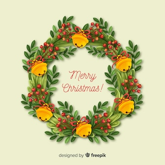 Beautiful christmas wreath background