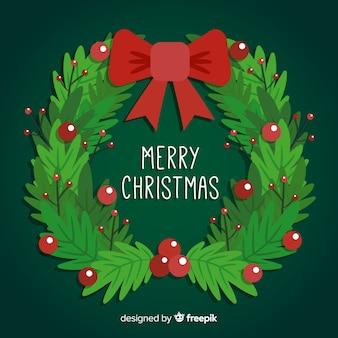 딸기와 함께 아름 다운 크리스마스 화 환