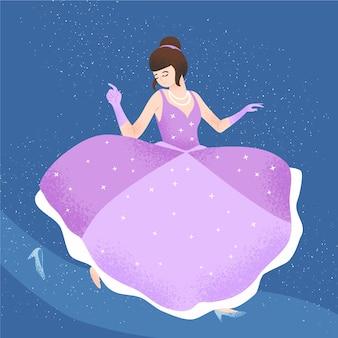 Bellissimo concetto di principessa cenerentola