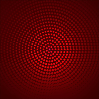 Beautiful circular dotted red background vector