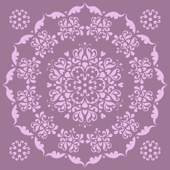 Beautiful circular pattern - irises.