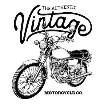 Красивый классический кастомный значок мотоцикла
