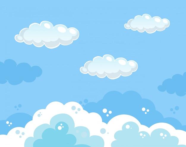 Красивый синий фон с голубым небом