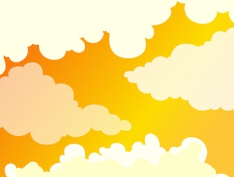 Beautiful Cloudy Golden Sky Background