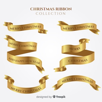 Beautiful collection of christmas ribbons