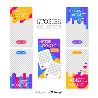 Beautiful collection of instagram stories templates
