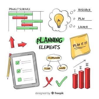 Красивая коллекция элементов планирования
