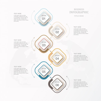 Beautiful color infographic template for business concept.