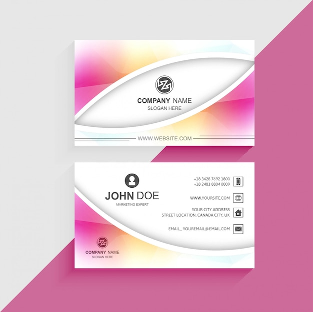 Beautiful colorful business card template design