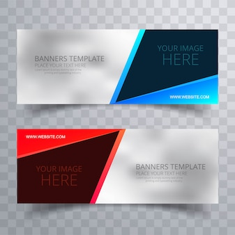 Beautiful colorful creative banners set template vector