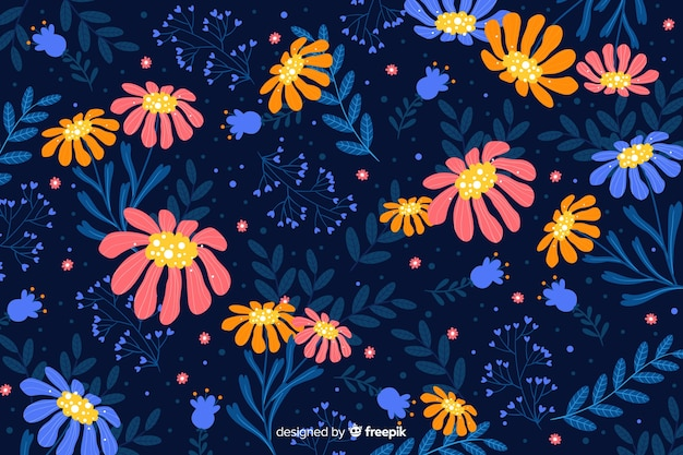 Beautiful colorful decorative floral background