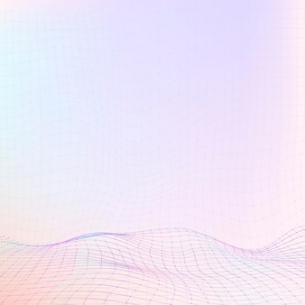 Красивые красочные цифровые волны иллюстрации