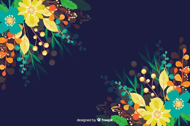 Beautiful colorful floral background composition