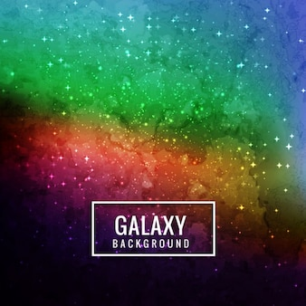 Beautiful colorful galaxy background