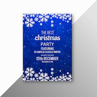 Beautiful colorful marry christmas party flyer template