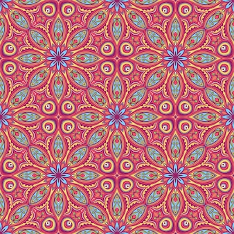Beautiful colorful nature abstract pattern with flowers