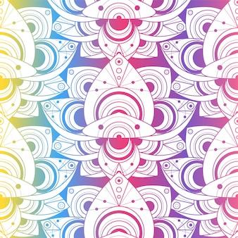 자연 장식으로 아름 다운 화려한 완벽 한 패턴입니다. 금박 연꽃 배경입니다. 열 대 수련의 템플릿 벡터 일러스트 레이 션. 빈티지 인도 스타일의 패션 장식