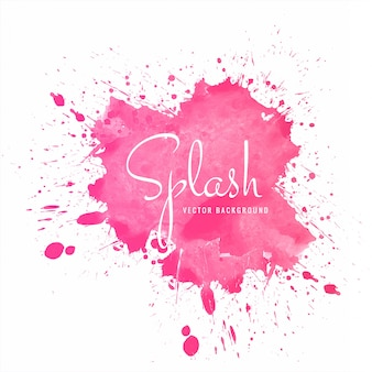 Beautiful colorful soft watercolor splash vector