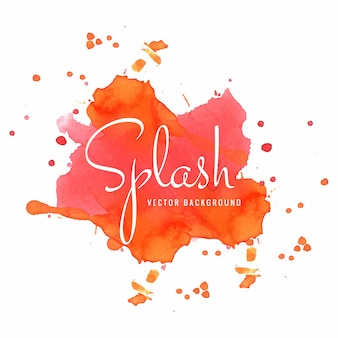 Beautiful colorful watercolor splash vector illustration