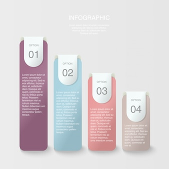 Beautiful colors of bar chart infographic.