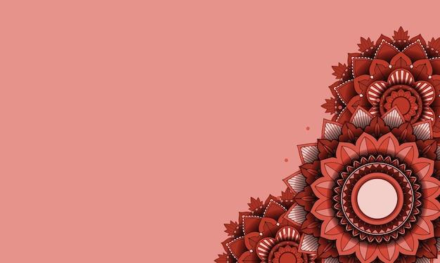美しい色のマンダラの背景