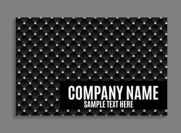 Beautiful company business card template. vector illustration