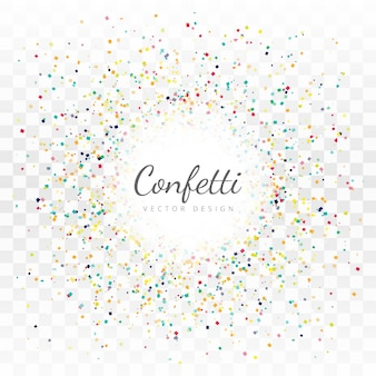 Beautiful confetti background vector